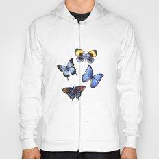 Pattern with butterflies Hoody