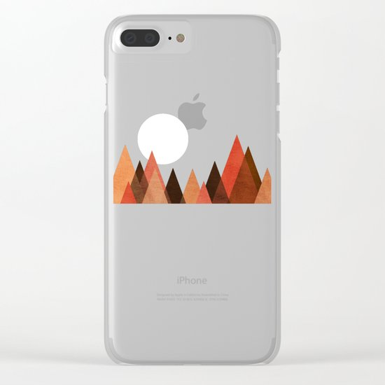From the edge of the mountains Clear iPhone Case