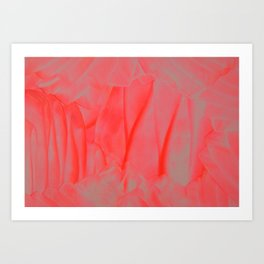 Pink swirls Art Print