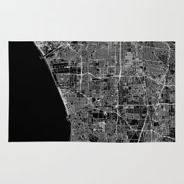 Los Angeles Black Map Rug