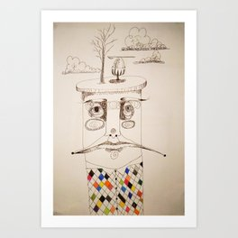 egg on top Art Print