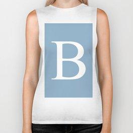 Letter B sign on placid blue color background Biker Tank
