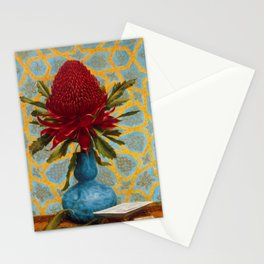 Waratah Flower Painting - Lucien Henry, 1887 Stationery Cards