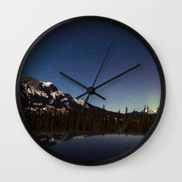 Northern lights #photography Wall Clock