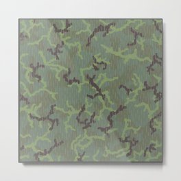 Rain in the Forest Camouflage Pattern Metal Print