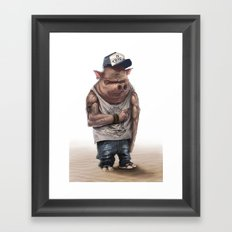 Pig Thug Framed Art Print