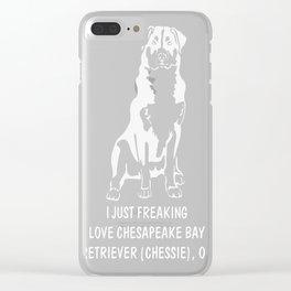 Chesapeake-Bay-Retriever-(Chessie)-tshirt,-just-freaking-love-my-Chesapeake-Bay-Retriever-(Chessie) Clear iPhone Case