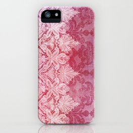ABERDEEN HEIRLOOM, LACE & DAMASK: REBECCA'S RED iPhone Case