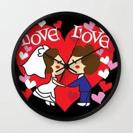 Wedding Memories Couples - I Wall Clock