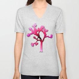 Joshua Tree Strawberry by CREYES Unisex V-Neck
