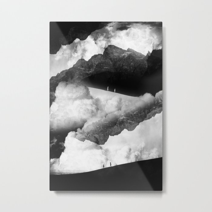 State of black and white isolation Metal Print