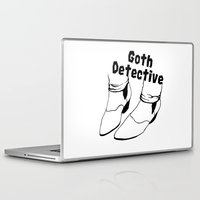 goth Laptop & iPad Skins featuring Goth Detective. by LiseRichardson