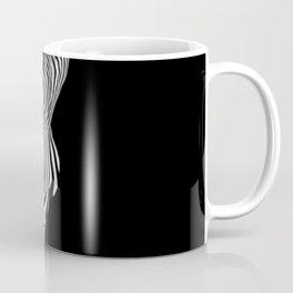 0481s-MM BW Abstract Nude Art Model Back Shoulders Zebra Stripe Coffee Mug