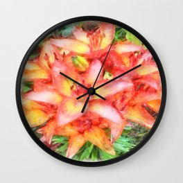 Helen's Lilies Watercolor Wall Clock