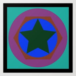 cirlce in star Art Print