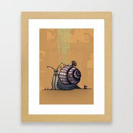 Snail level 2 Framed Art Print