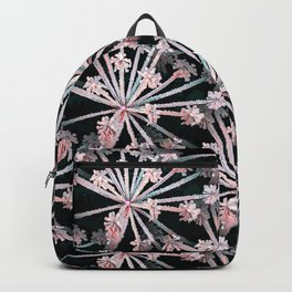 Frost Flower Abstract In Pink And Black Backpack