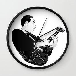 LES PAUL House of Sound - BLACK GUITAR Wall Clock