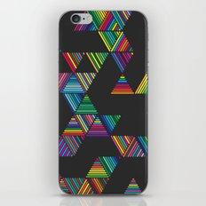 Rainbow Night Rain iPhone & iPod Skin