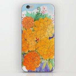 Orange Peonies iPhone Skin