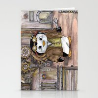 engineer Stationery Cards featuring Penguin Engineer by Tanya Davis Art