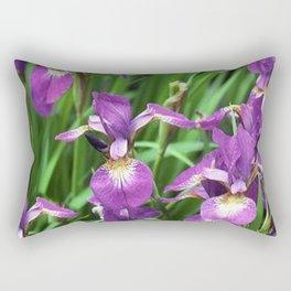 LILAC PURPLE IRIS GARDEN Rectangular Pillow