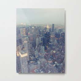 New York at sundown Metal Print