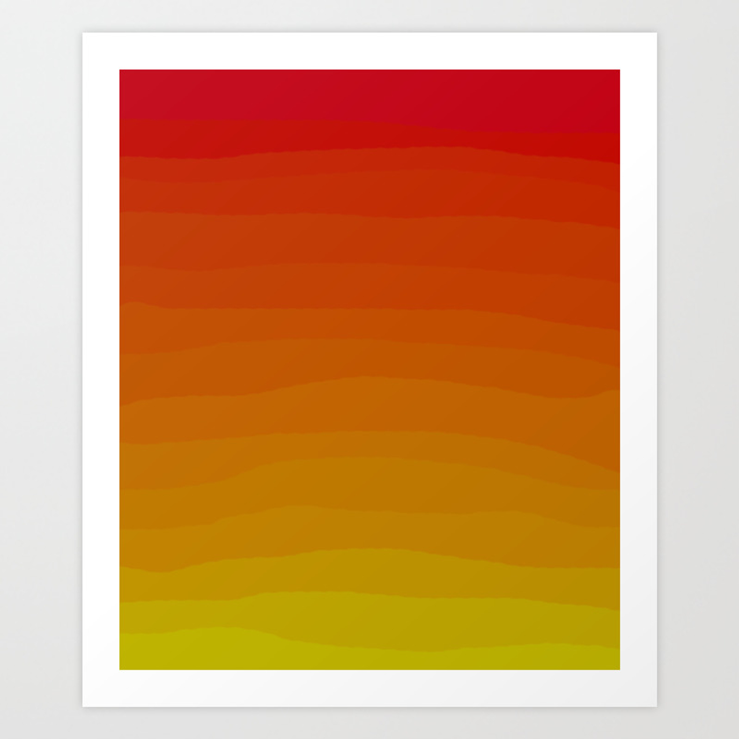 Warm Sunset Gradient Art Print By Katherinefriesen Society6