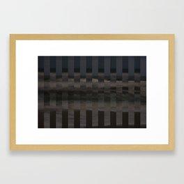 Ocean Collage, Stripes Framed Art Print
