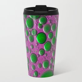 The world of bubbles - pink and green Travel Mug