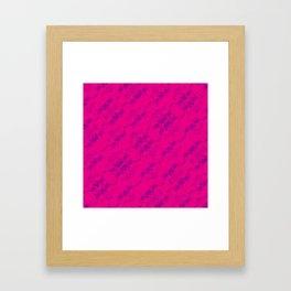 Hipster Purple Skulls Pattern Vector Neon Pink Framed Art Print