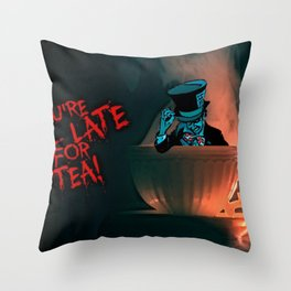 Evil Mad Hatter Throw Pillow
