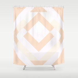 Diamond Taupe Shower Curtain