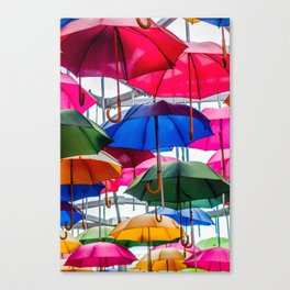 Colorful Umbrellas Canvas Print