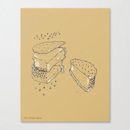 Exploded Ice Cream Sandwich Canvas Print