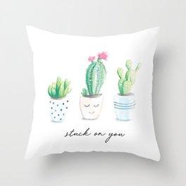 Stuck on You Throw Pillow