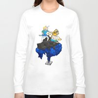 finn and jake Long Sleeve T-shirts featuring FINN, JAKE, FIONNA & CAKE by Echo Faust
