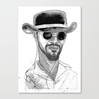 django Canvas Prints featuring Django by Andy Christofi