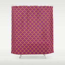 Chic Moroccan Quatrefoil Deep purple  Shower Curtain