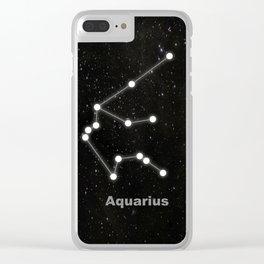 Aquarius star constellation Clear iPhone Case