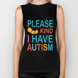 I Have Autism Bee Kind Premium by Spreadshirt autism Biker Tank