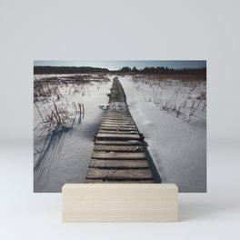 Winter at the Boardwalk Mini Art Print