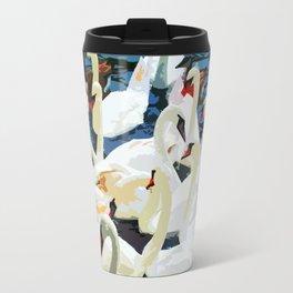 Swans on the Lake Travel Mug