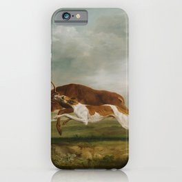 George Stubbs - Hound Coursing a Stag iPhone Case