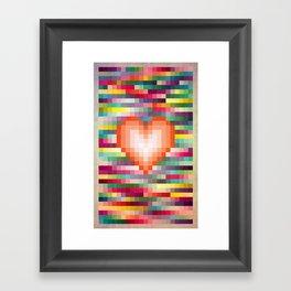 Mega ☐ Love_Grunge Framed Art Print
