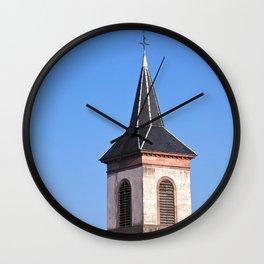 Church Tower Alsace, France Wall Clock