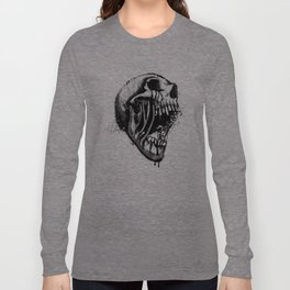 Melting Primal Scream - Skull Long Sleeve T-shirt