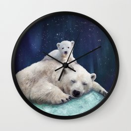 Polar Bears Wall Clock