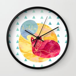 Hello foxy Wall Clock