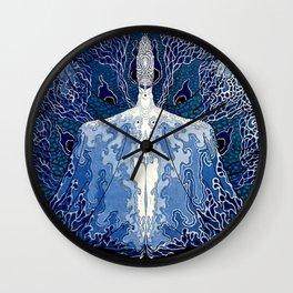 "Art Deco Design ""Monday Muse"" by Erté Wall Clock"